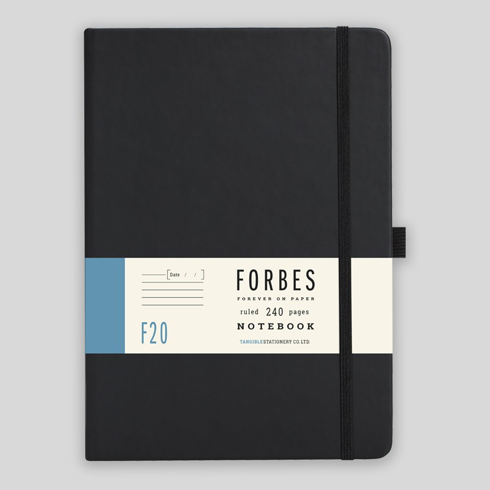 Forbes Classic Notebook - A5 - Lined - Black