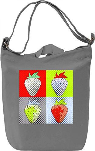 Pop Art Strawberries Borsa Giornaliera Canvas Canvas Day Bag| 100% Premium Cotton Canvas| DTG Printing|
