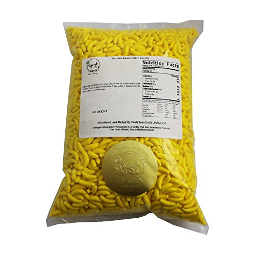 FirstChoiceCandy Yellow Silly Banana Heads Hard Runts Candy Bulk 5 Pounds]()
