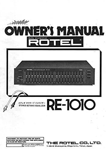 rotel re 1010 equalizer owners manual plastic comb jan 01 1900 rh amazon com Rotel Audio Rotel Cheese