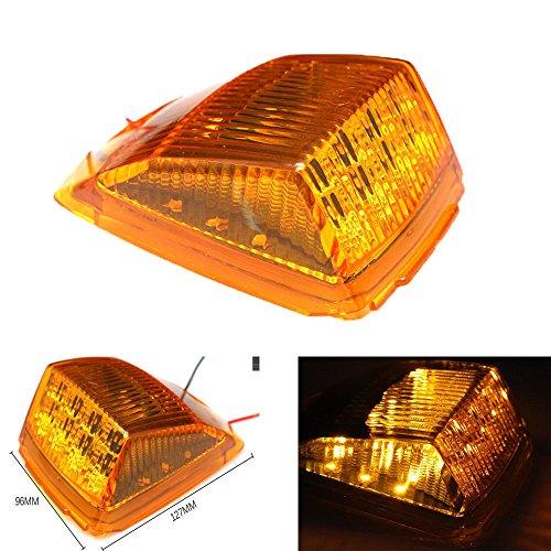 - Keyecu 1 Pack Amber 17LED Roof Running Top Clearance Reflector Lights for Kenworth Peterbilt Freightliner Mack (1)