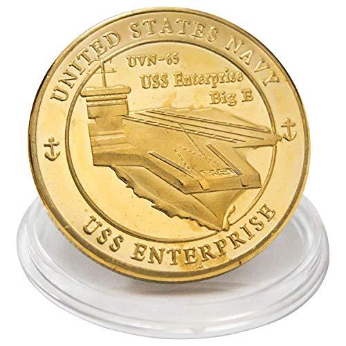 (CVA(N)-65 USS Enterprise CVN-65 Challenge Coin United States Navy CVN65 Aircraft Carrier Badge N003J)