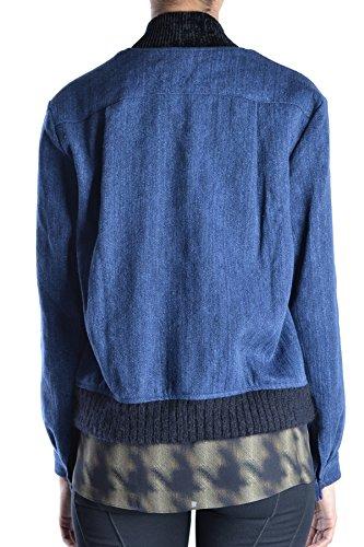 Forte Forte Damen MCBI354001O Blau Leinen Jacke