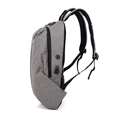 Zaino Cvthfyky Business Mens Design serratura Foro antifurto Capacity Password USB nero Porta Bag Big installato con Multifun TKF1clJ3