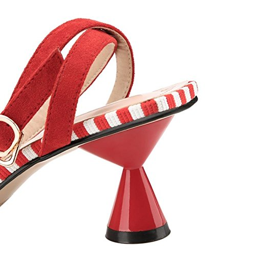 Sandali Donne 3 red Zanpa Mules Mode tOxdOpS