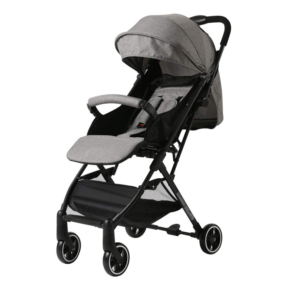 乳児用トロリー ベビーカート軽量ポータブル折り畳み式ベビーカー グレー   B07Q5WJY2K
