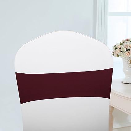 Walmeck 50 lazos elásticos para sillas de boda, sillón de ...
