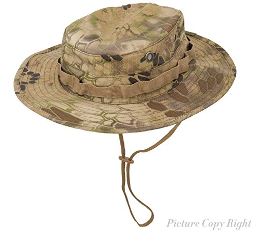 0f988acc59f GLORYFIRE Boonie Hat Tactical Ripstop Headwear Bucket Hat with Map Pocket  Chin Strap for Wargame Sports Hunting Fishing UV Protection Cap with  Oversized ...