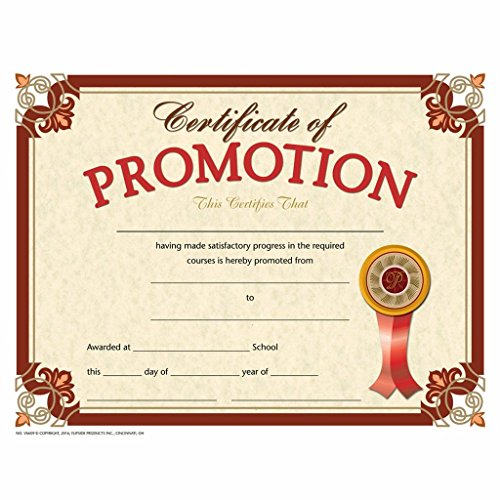 Certificate of Promotion - Matte Paper - Quantity 150