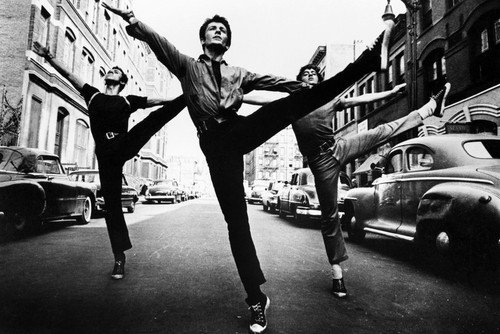 West Side Story George Chakirisclassic in New York street doing dance routine 24x36 Poster Silverscreen