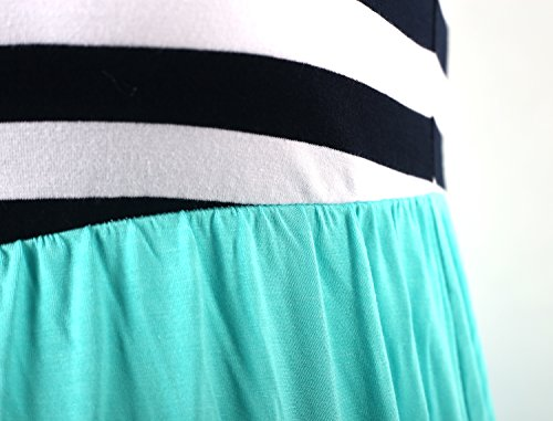 Donna cyan Neonysweets Black Abito Maxi Stripe 8yEqBaEc