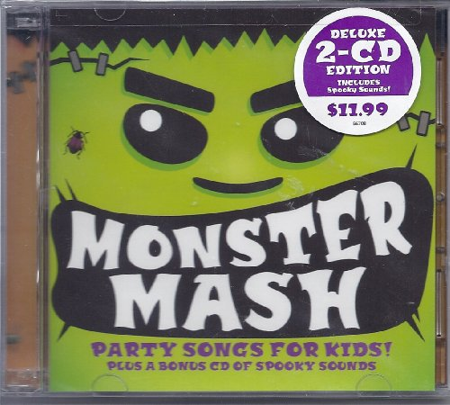 MONSTER MASH Party Songs & Spooky Sounds for Kids! (2 CD set) (15 Halloween Songs)