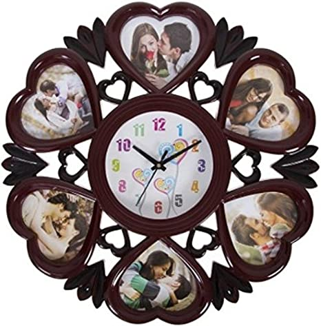 Buy Smera Wall Clock With Heart Shape Photo Frame Online At Low