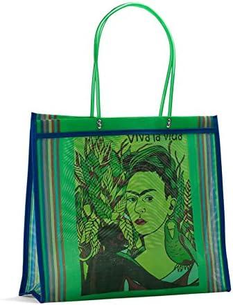 Fantastik Azul Bolsa Mexicana de Mercado Frida Kahlo asa Larga FANMEX