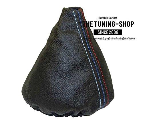 Soufflet de levier Shift de coffre Noir cuir M Power Coutures The Tuning-Shop Ltd