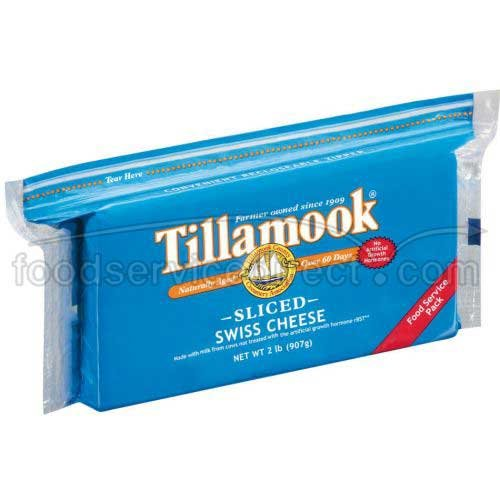 Tillamook Sliced Swiss Cheese, 2 Pound -- 12 per case. by Tillamook (Image #1)