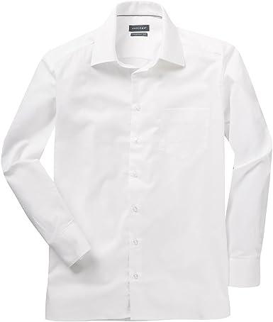Jupiter XXL Camisa Manga Larga con Estructura Fina Blanca, 45 ...