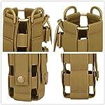 Yakmoo Sac de Bouteille d'eau Réglable 300-800ml Style Militaire Tactique Nylon Sac Bandoulière Imperméable Molle… 10