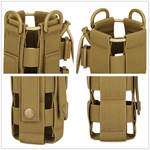 Yakmoo Sac de Bouteille d'eau Réglable 300-800ml Style Militaire Tactique Nylon Sac Bandoulière Imperméable Molle… 5