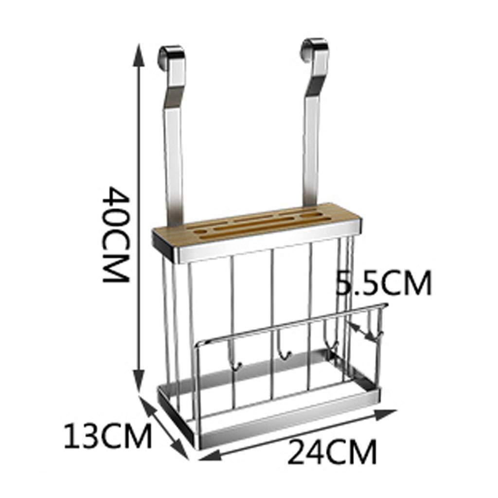 ZXL Escurridores de Platos Racks con Bandeja extra/íble de desag/üe Racks de Secado de Platos de Acero Inoxidable montados en la Pared para Porta-Utensilios de Cocina Portavasos