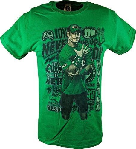 John Cena Graffiti Logo WWE Kids Boys Green T-Shirt-YS by Freeze