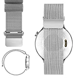 20mm Stainless Steel Watch Band For Basis Peak 2014 Fitness Tracker Watch (20mm, Magnetic Silver)