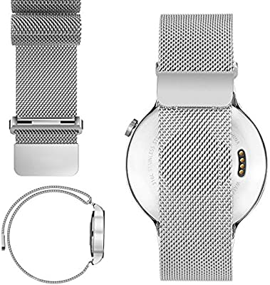 20mm Magnetic Milanese Loop Stainless Steel Magnet Watch Band For 20mm Pebble Time Round, Gear S2 Classic SM-R7320 (YESOO Retail Packaging - 180 Days ...