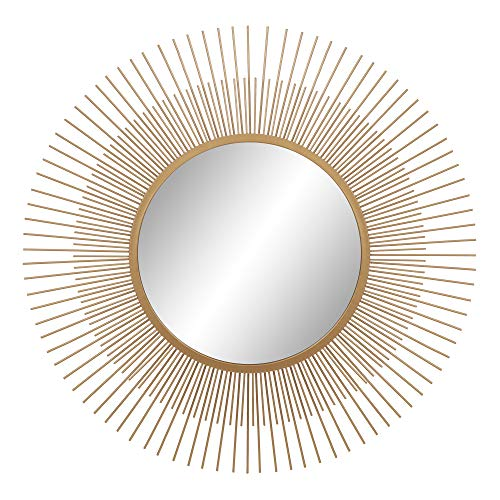 Gold Sunburst Wall Accent Mirror