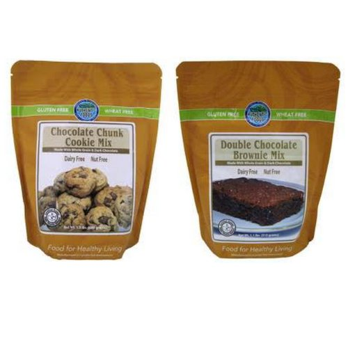 Authentic Foods Double Chocolate Brownie & Chocolate Chunk Cookie Mix - 2 Pack by Authentic Foods