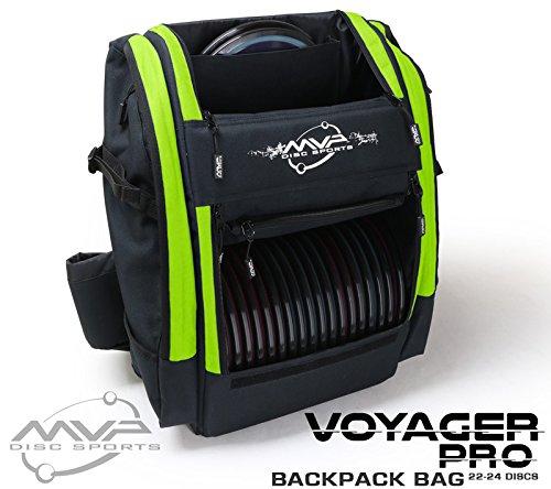 MVP Disc Sports Voyager Pro Backpack Disc Golf Bag - Lime