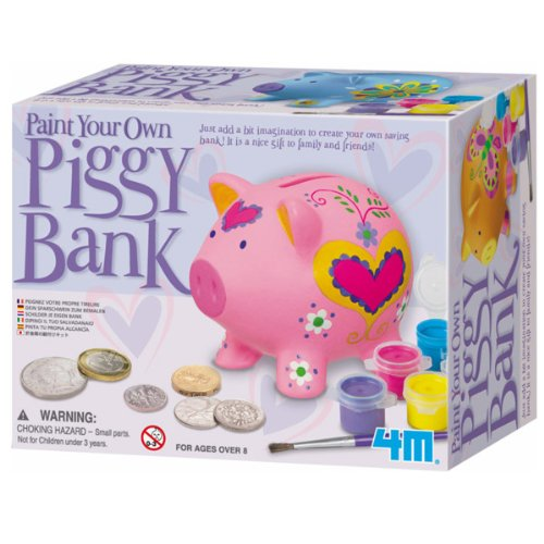 4M Paint a Pig Bank (Paint Your Own Piggy Bank)