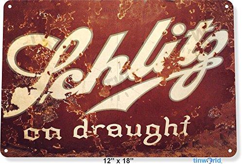 chlitz Drought Beer Metal Art Store Pub Brew Shop Bar Pub A602 (Schlitz Beer)