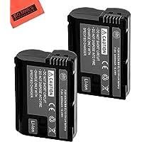 BM Premium Pack Of 2 EN-EL15 Batteries for Nikon 1 V1, D600, D610, D750, D800, D810, D7000, D7100 Digital SLR Camera + More!!