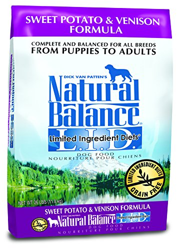 Dick Van Pattens Natural Balance Limited Ingredient Diets Sweet Potato and Venison Formula Dry Dog Food 26-Pound Bag