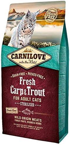 Carnilove Carnilove Fre Carp & Trout Sterilise Comida Deshidratada Para Gato 2 Kg - Paquete de 23 x 86.96 gr - Total: 2000 gr