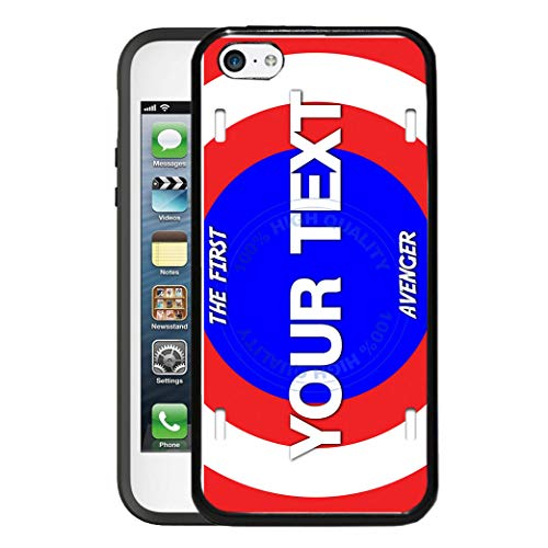 BRGiftShop Customize Your Own Superhero Series: The First Avenger Shield Rubber Phone Case for Apple iPod Touch 5th & 6th - 1st Button Touch Ipod Generation