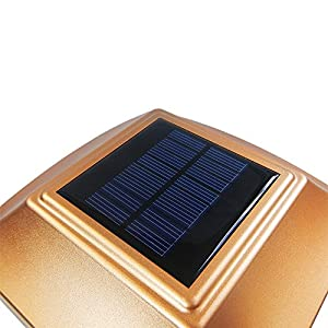 iGlow 8 Pack Copper 6 x 6 Solar Post Light SMD LED Deck Cap Square Fence Outdoor Garden Landscape PVC Vinyl Wood Bronze
