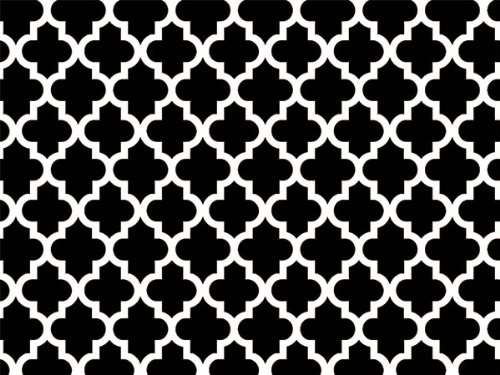 BLACK TILES GEO GRAPHIC240~20''x30'' Sheets Recycled (1 unit, 240 pack per unit.)