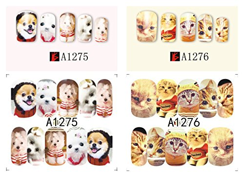 Tmalltide 20 Pcs Animals Owl Dog Cat butterfly Dream Catcher Nail Stickers Water Transfer Full Wraps Foils Decorations of Nail Decals Tools Decorations of Nail Decals Tools