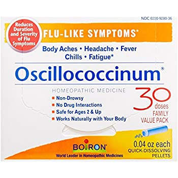 Boiron Oscillococcinum for Flu-like Symptoms Pellets, 30 Count/0.04 Oz each