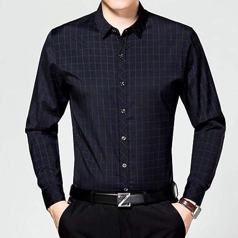 YaXuan Camisas de Tela Escocesa para Hombres, Moda para ...