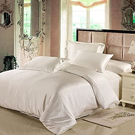 Lilysilk 19 Momme Seamless 100 Mulberry Silk Duvet Cover Ivory King