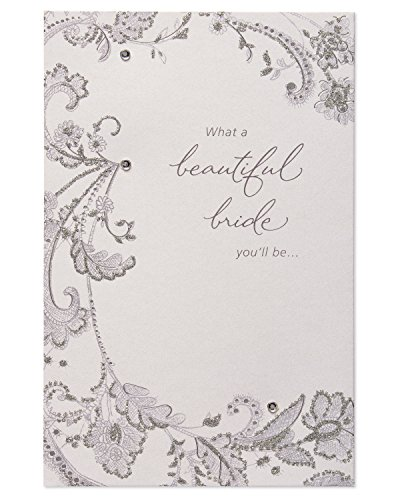 Beautiful Bride-to-Be Wedding Card with Rhinestones