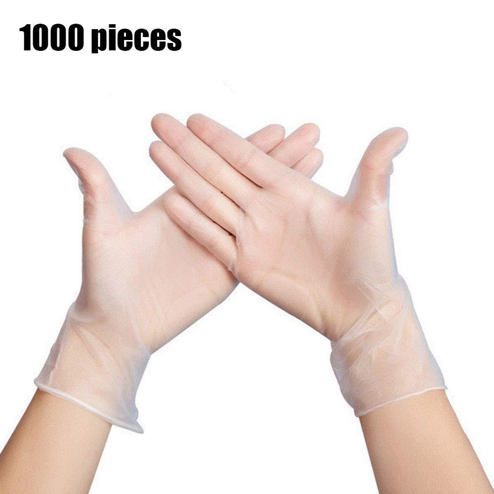 使い捨てビニール手袋、食品グレードの世帯のきれいでない処理、環境に優しいキッチンクリーニングプラスチック製の白い透明な1000枚 B07QDX76B3