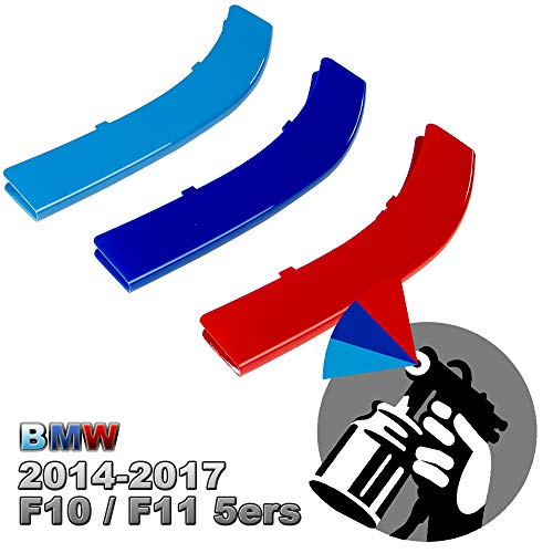 5-Layer Painted M-Color Kidney Grille Stripe For BMW Vehicles (F10 F11 5er/ 10-Beams)