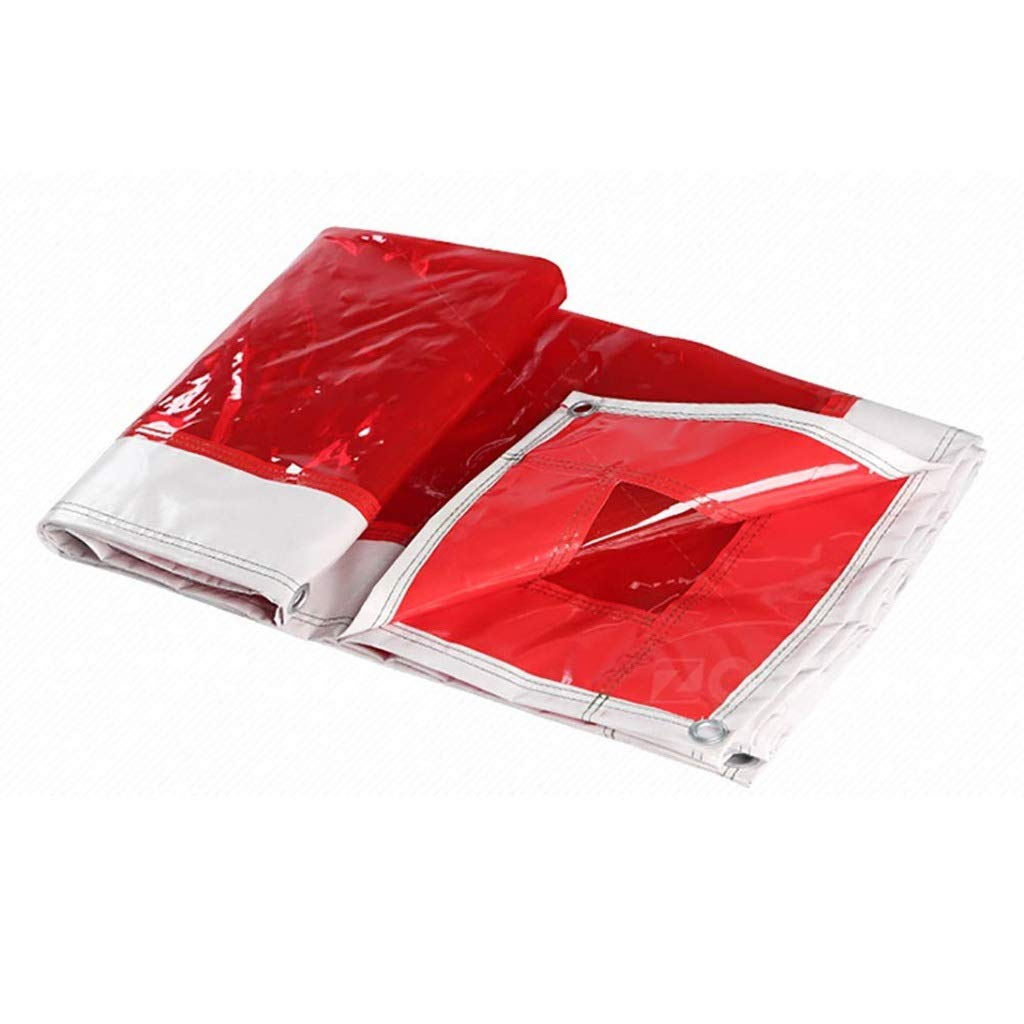 Transparent Tarpaulin, 100% All Weather Waterproof Sunscreen Multi-Function, Sturdy PVC Thick Plastic Sheet, 500g / M2 (Size : 55m)