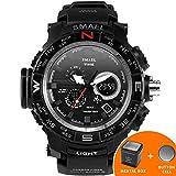 #5: SMAEL Men's Sport Watch LED Digital Wristwach Multi-functional Men Clock Led Stopwatch S Shock 1531 Series (White)