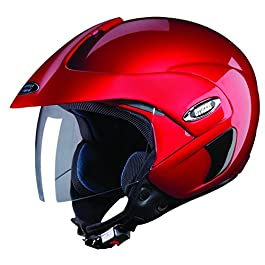 Studds Thermoplastic Marshall Open Face Helmet (Cherry Red, L)