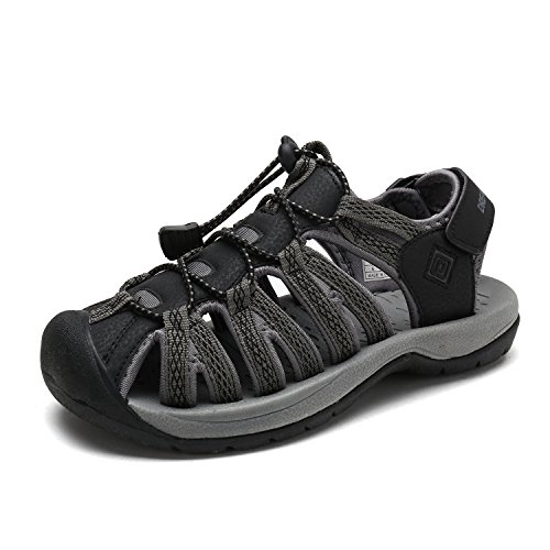 DREAM PAIRS Women's 160912-W-NEW Black DK.Grey Adventurous Summer Outdoor Sandals Size 9 M US by DREAM PAIRS