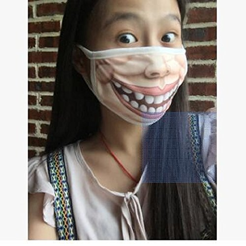 Foerteng Funny Fashion Mouth-muffle Warm Face Mask for Cold Weather Cotton Unisex Mouth Mask Windproof Anti-dust (Funny Face Masks)